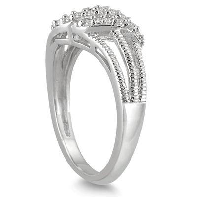 1/5 Carat Diamond Ring in 10K White Gold