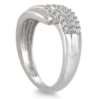 1/4 Carat TW Diamond Split Shank Band in 10K White Gold