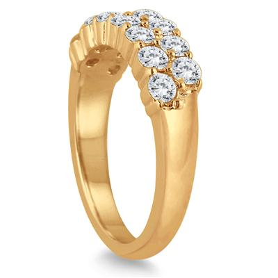 1 1/4 Carat TW Diamond Wedding Band in 10K Yellow Gold