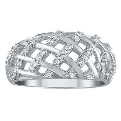 1/4 Carat Diamond Ring in 10K White Gold
