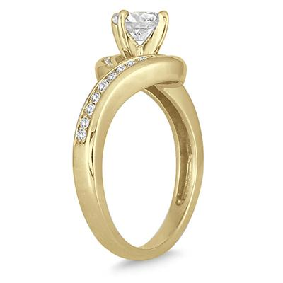 1 1/4 Carat TW Diamond Engagement Ring in 14K Yellow Gold