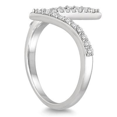 1/4 Carat TW Zigzag Diamond Ring in 14K White Gold