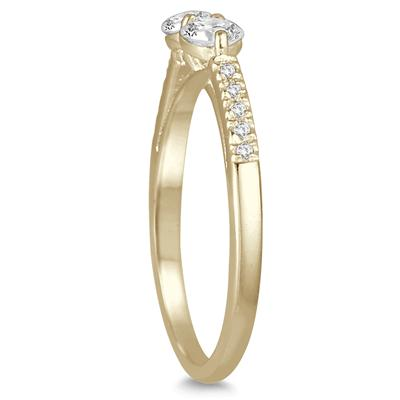 5/8 Carat TW Two Stone Diamond Ring in 14K Yellow Gold