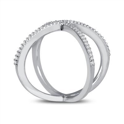 1/4 Carat TW Diamond X-Ring in 10K White Gold