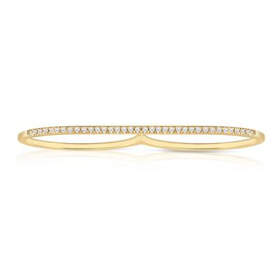 1/5 Carat TW Double Finger Diamond Ring in 10K Yellow Gold