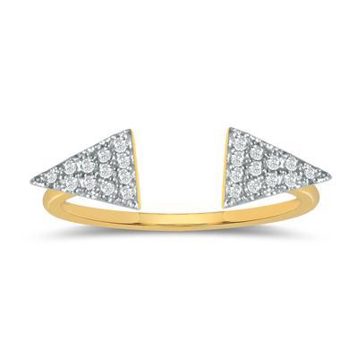 1/10 Carat TW Diamond Ring in 10K Yellow Gold