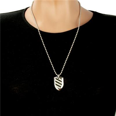 Stainless Steel Polished Shield Necklace