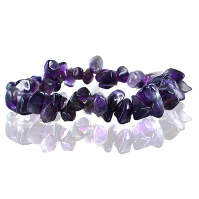 35 Carat All Natural Uncut Genuine Amethyst Bracelet