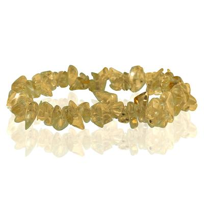 35 Carat All Natural Uncut Genuine Citrine Bracelet