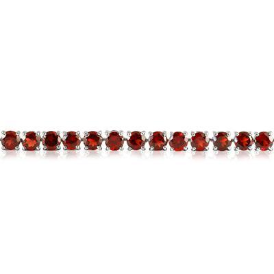 22 Carat Garnet Bracelet in .925 Sterling Silver