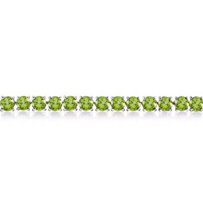17 Carat Peridot Bracelet in .925 Sterling Silver