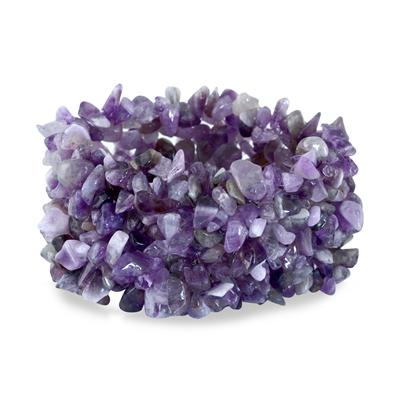 500 Carat All Natural Uncut Genuine Amethyst Bracelet