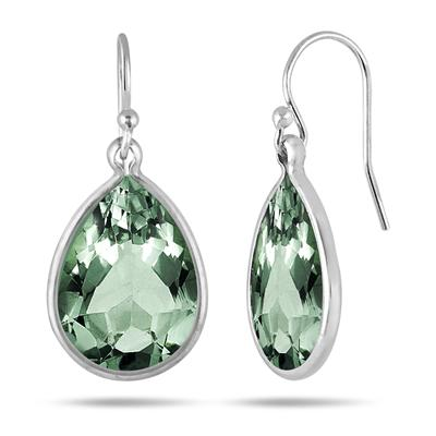 Genuine SWAROVSKI Green Crystal Earrings in .925 Sterling Silver