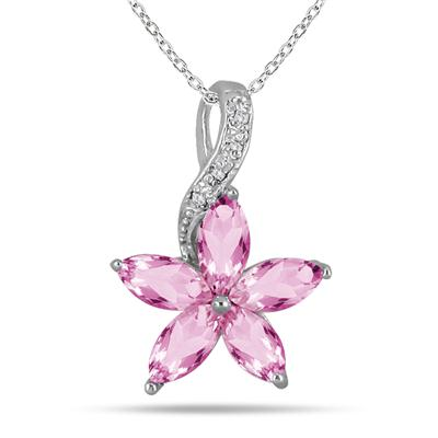 1.75 Carat Diamond Flower Pendant