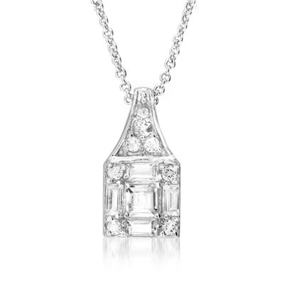 White Topaz Pendant in .925 Sterling Silver