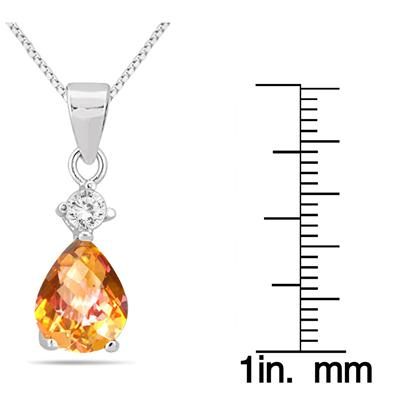 4.25 Carat Natural Twilight Topaz Pendant and Earring Set in .925 Sterling Silver