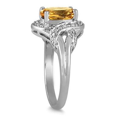 1.75 Carat Citrine and Topaz Ring in .925 Sterling Silver