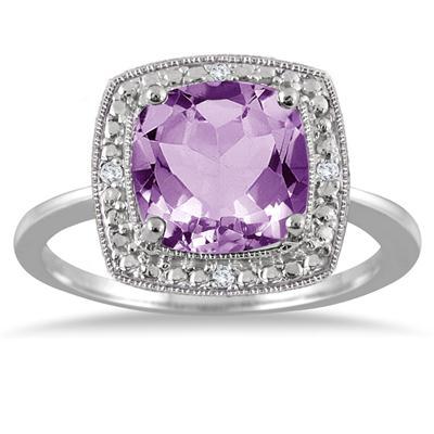 2.75 Carat Cushion Cut Diamond Halo Ring
