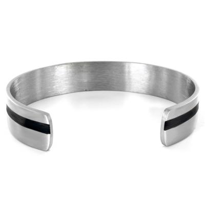 Stainless Steel Black Plated Cuff Bracelet