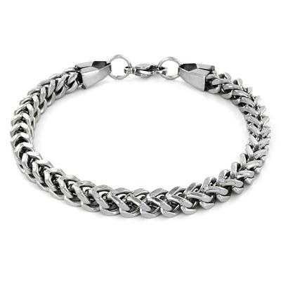 Stainless Steel Mens Franco Box Chain Bracelet