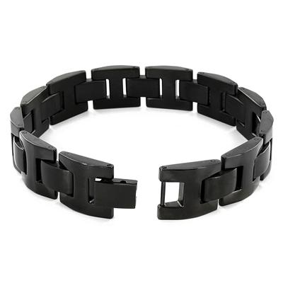 Stainless Steel Black Link Bracelet