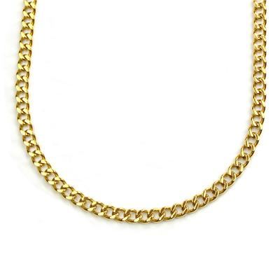 "24"" Goldplated Stainless Steel Heavy Curb Link Chain Necklace"