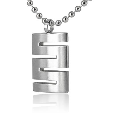 Stainless Steel Domed Cut Out Dog Tag on 24 inch Ball Chain