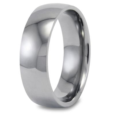 Domed Polished Titanium Band (8mm)