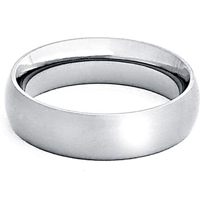 Domed Brushed Titanium Band (6mm)