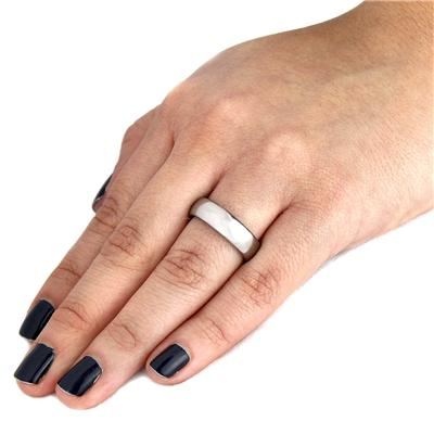 Domed High-polished Tungsten Carbide Band (6mm)