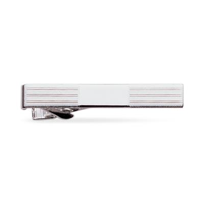 23k Rhodium Electroplated Tie Clip