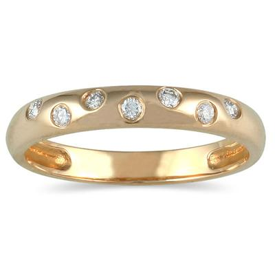 Seven Sparkles 10k Yellow Gold Diamond Band