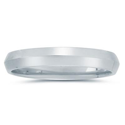 4 mm Knife Edge Comfort-Fit Wedding Band in 10k White Gold