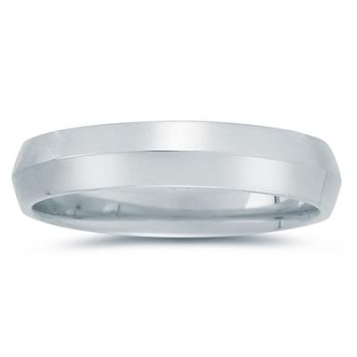 5 mm Knife Edge Comfort-Fit Wedding Band in 18k White Gold