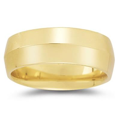8 mm Knife Edge Comfort-Fit Wedding Band in 10k Yellow Gold