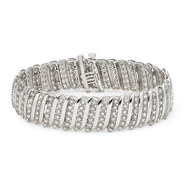 5 carat tennis bracelet in 925 sterling silver