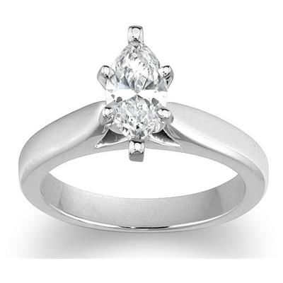 Cathedral Setting in 14k White Gold