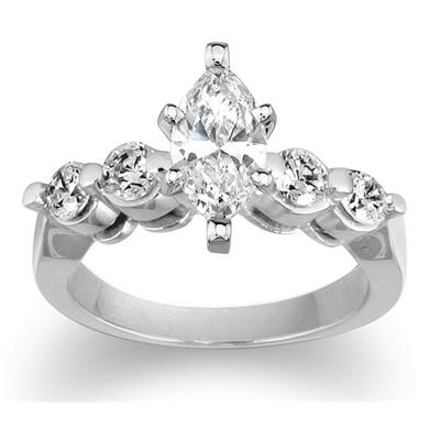 Diamond Engagement Ring Setting in White Gold