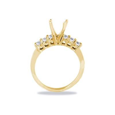 18k Yellow Gold Diamond Engagement Ring Setting
