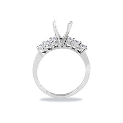 Palladium Diamond Engagement Ring Setting