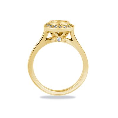 14k Yellow Gold Bezel  Set Engagement Ring