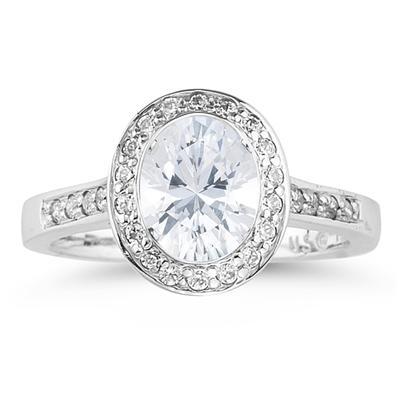 Platinum Bezel  Set Engagement Ring