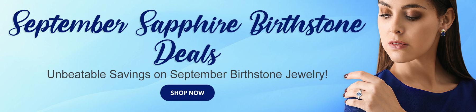 September Sapphire Birthstone Deals
