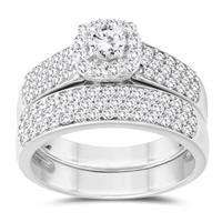 1 1/4 Carat TW Diamond Bridal Set in 10K White Gold