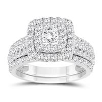 1 7/8 Carat TW Diamond Bridal Set in 10K White Gold