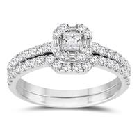 7/8 Carat TW Bridal Set in 10K White Gold