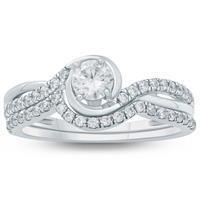 3/4 Carat TW Diamond Bridal Set in 10K White Gold