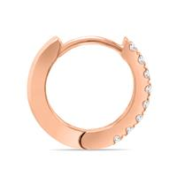 1/5 Carat TW Small Diamond Huggie Hoop Earrings in 10K Rose Gold