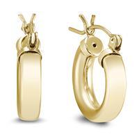 12mm 14K Yellow Gold Filled Hoop Earrings
