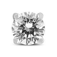 1/4 Carat Round Single Stud Diamond Earring in 14K White Gold